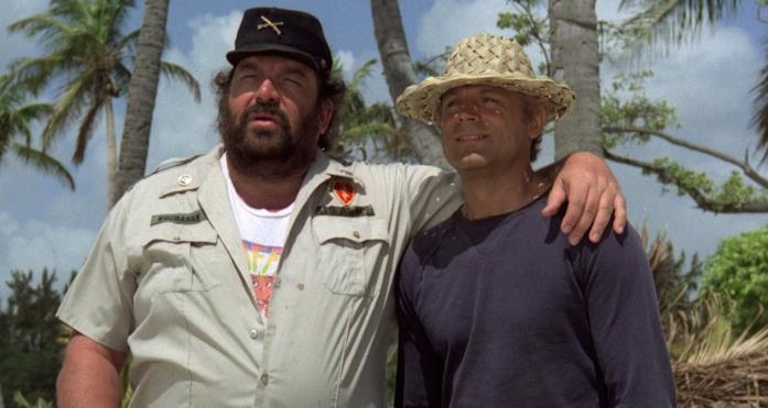 Bud Spencer e Terence Hill, protagonisti di Chi trova un amico trova un tesoro