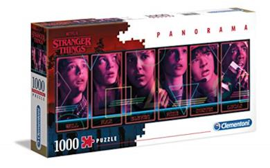 Clementoni - 39548 - Puzzle Panorama - Stranger Things - 1000 Pezzi - Made In Italy - Puzzle Adulti Netflix