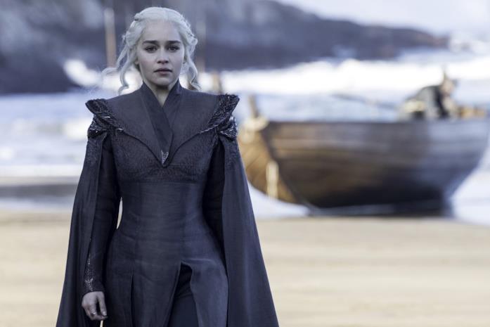 Una scela de Il Trono di Spade 7 con Daenerys sulla spiaggia