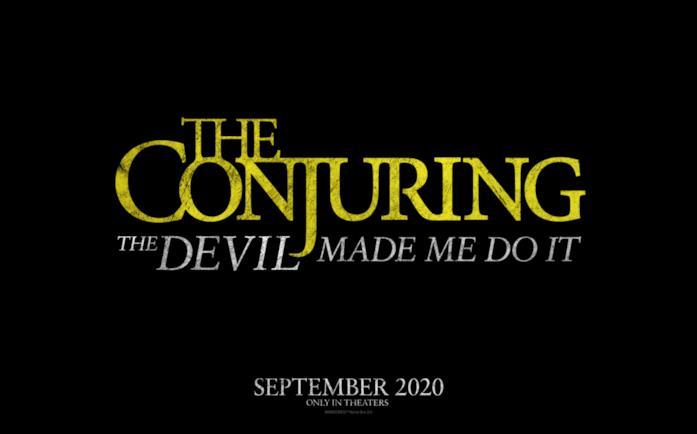 Il poster del terzo film di The Conjuring, intitolato The Conjuring: The Devil Made Me Do It