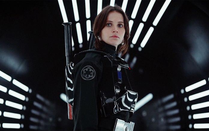 Jyn Erso interpretata da Felicity Jones è protagonista di Rogue One