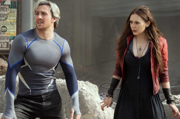 Un'immagine di Wanda e Quicksilver in Avengers: Age of Ultron