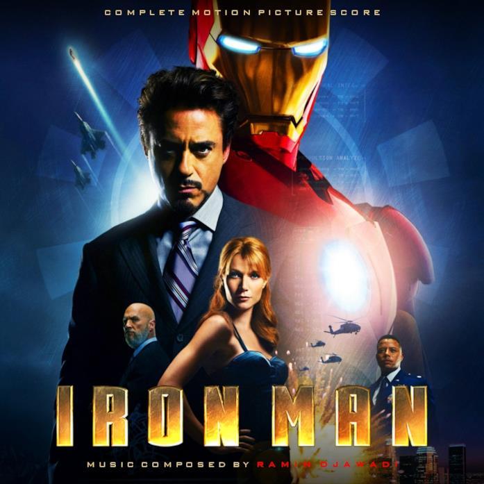 La copertina della colonna sonora del film Iron Man