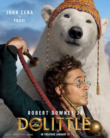 Il Dottor Dolittle con l'amico orso polare
