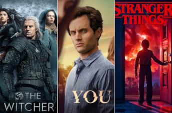 I poster di The Witcher, You e Stranger Things