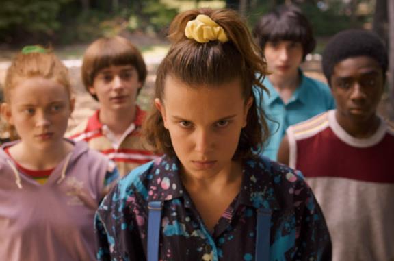 Un'immagine dei personaggi di Stranger Things nella terza stagione