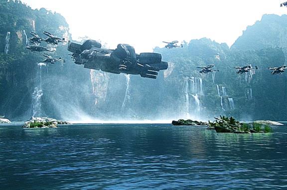 Un paesaggio d'acqua di Avatar