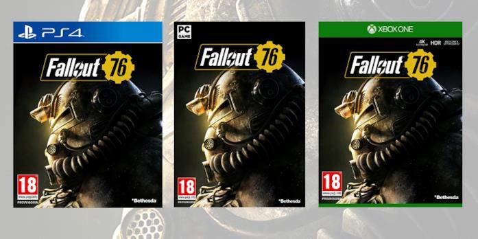 Le boxart di Fallout 76 sulle diverse piattaforme