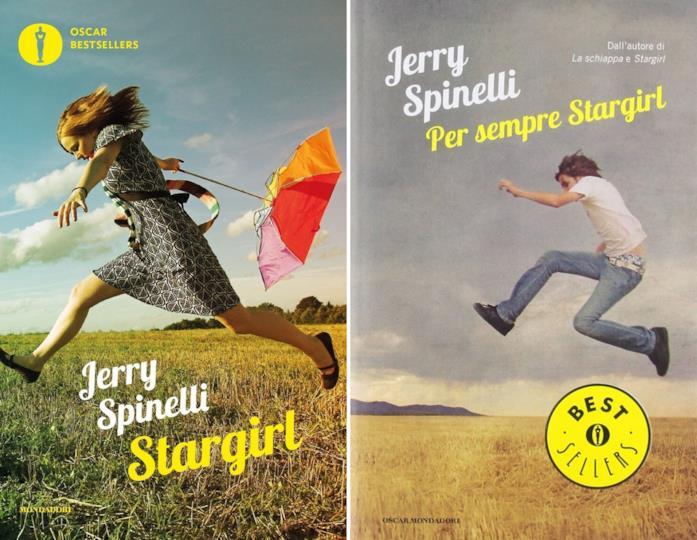 A sinistra la cover del libro Stargirl e a destra il suo sequel dal titolo Per sempre Stargirl