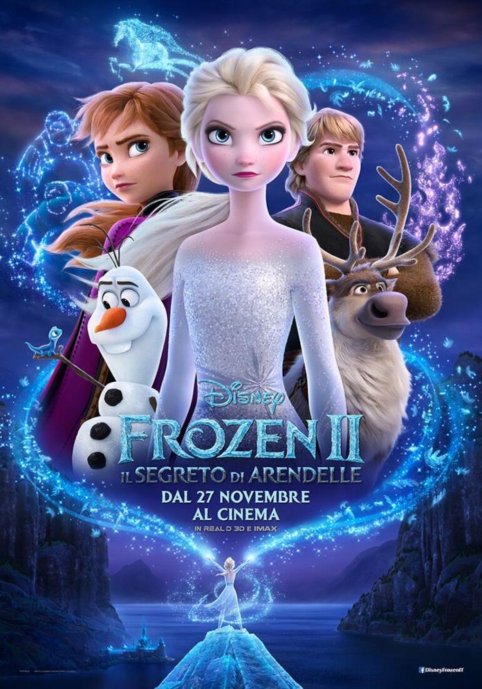 La locandina italiana di Frozen 2