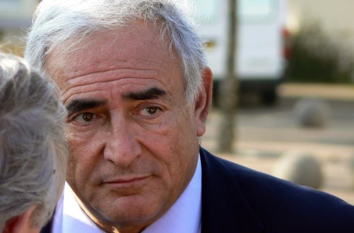 Un primo piano di Dominique Strauss-Kahn
