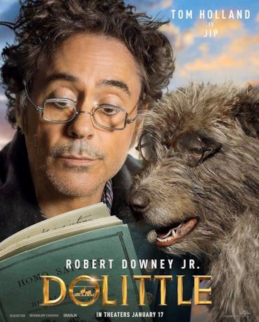 Il Dottor Dolittle con il suo amico cane