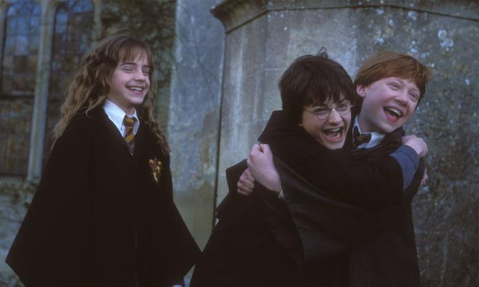 Hermione, Harry e Ron in Harry Potter