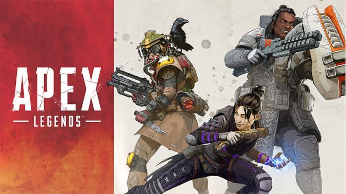 Un concept art dei protagonisti di Apex Legends