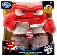 "Disney / Pixar Inside Out Anger Animated 9"" Talking Plush by Pixar"