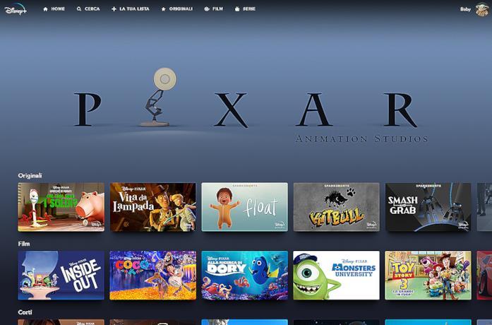 Una scena della serie Pixar tra la gente