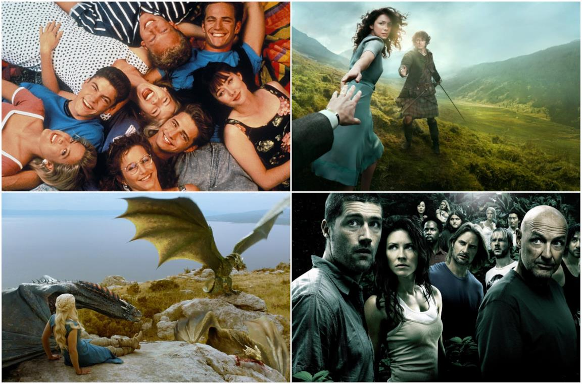 Beverly Hills 90210, Outlander, Game of Thrones, Lost