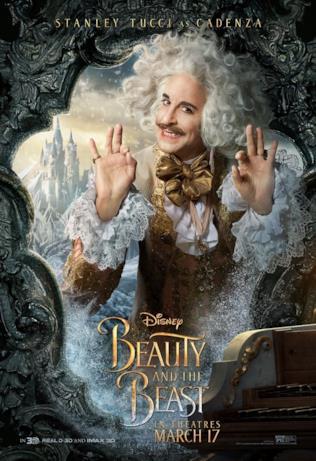 La Bella e la Bestia: Stanley Tucci nel poster di Cadenza
