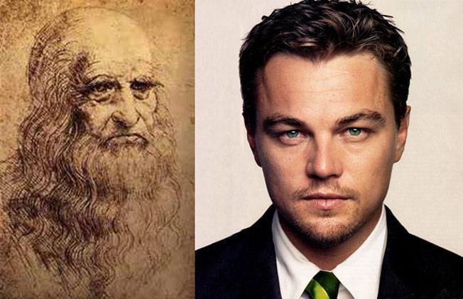 Leonardo da Vinci e Leonardo DiCaprio