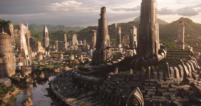 Il Regno di Wakanda visto dall'alto