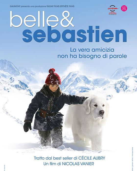 La locandina del film francese Belle & Sebastien