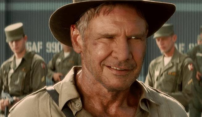 Un'immagine di Harrison Ford in Indiana Jones e il regno del teschio di cristallo