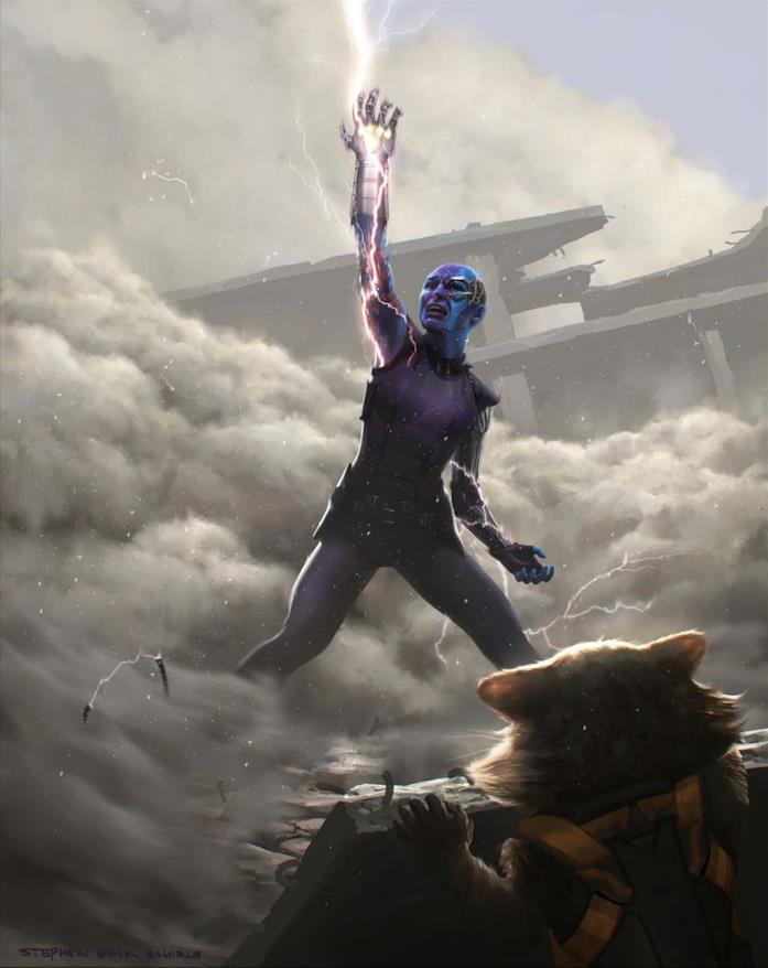 Nebula con il Guanto dell'Infinito
