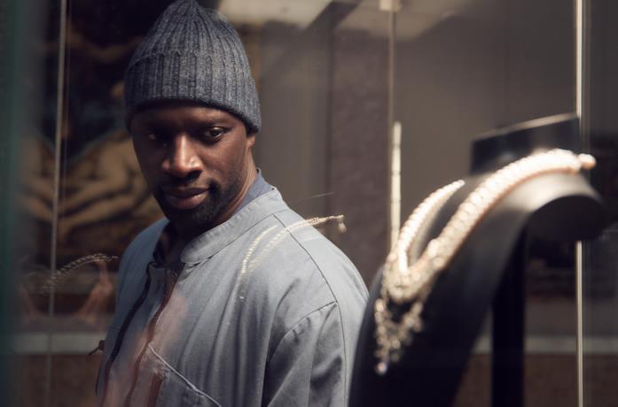 Omar Sy nel primo episodio di lupin