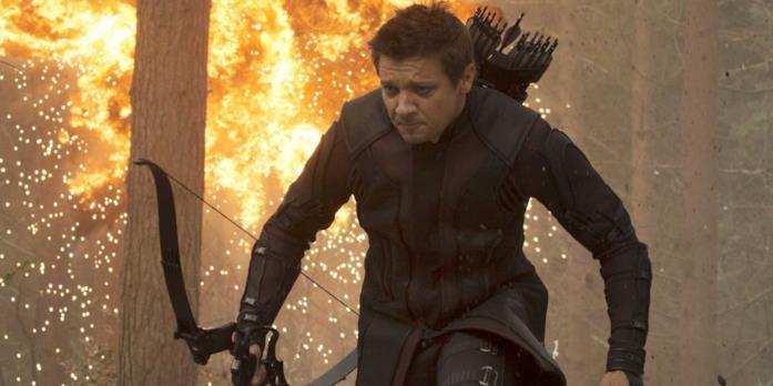 Jeremy Renner nei panni di Occhio di Falco Avengers: Age of Ultron