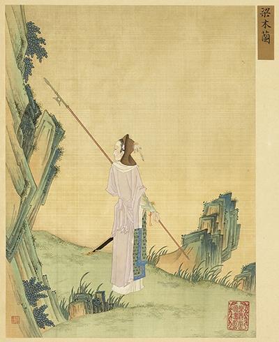 Antico dipinto di Mulan