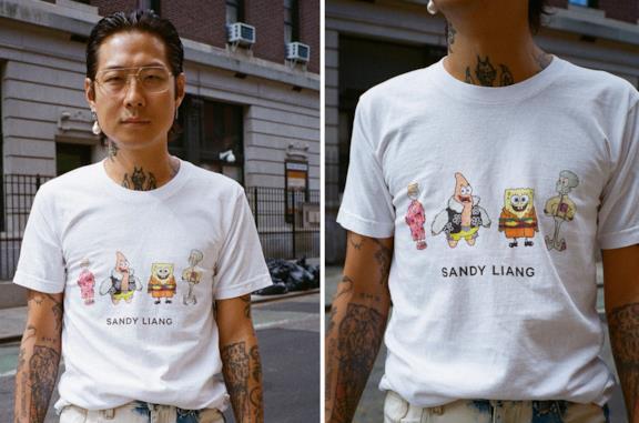 Sandy Liang x SpongeBob SquarePants T-shirt