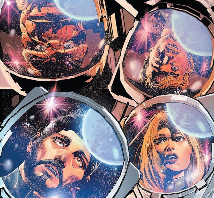 Dettaglio della cover di Fantastic Four #14