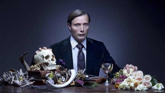Mads Mikkelsen in una immagine promozionale della serie TV Hannibal