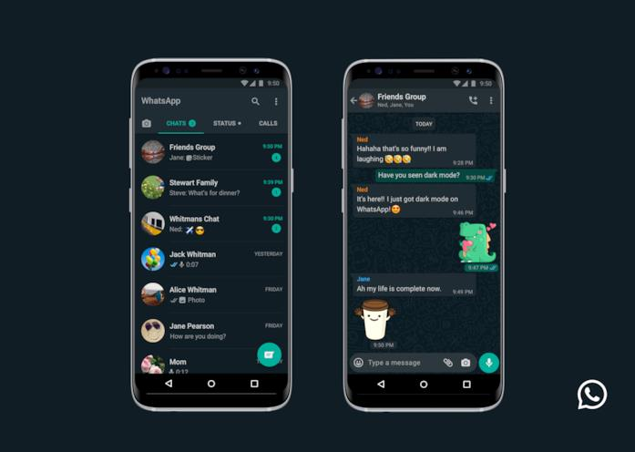 La Dark Mode di WhatsApp