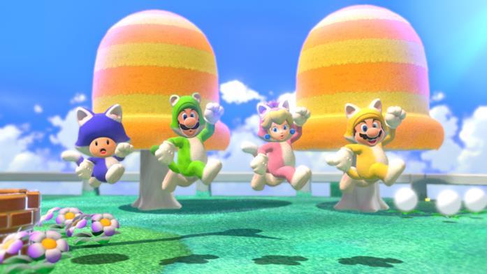 Super Mario costume gatto