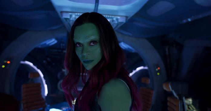 Gamora interpretata nel Marvel Cinematic Universe da Zoe Saldana