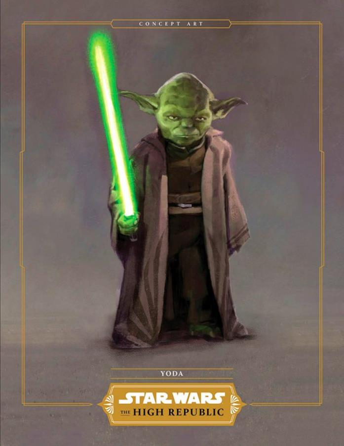 Un concept art di Yoda