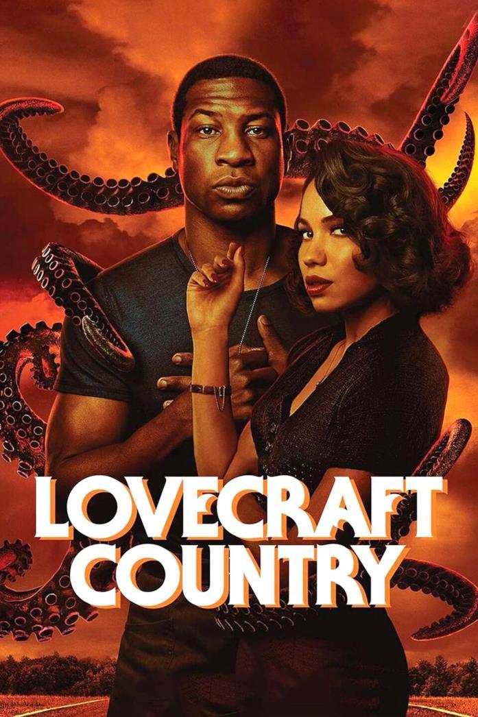 Jonathan Majors e Jurnee Smollett nel poster di Lovecraft Country