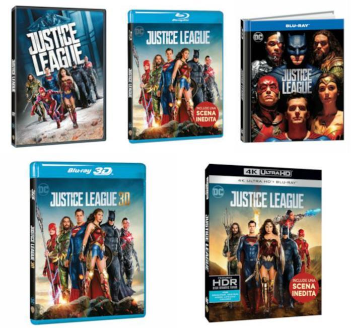 Le edizioni Home Video italiane di Justice League