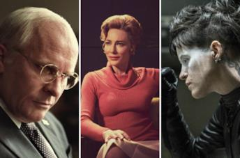 Da sinistra: Vice - L'uomo nell'ombra, Mrs. America e Millennium. Quello che non uccide