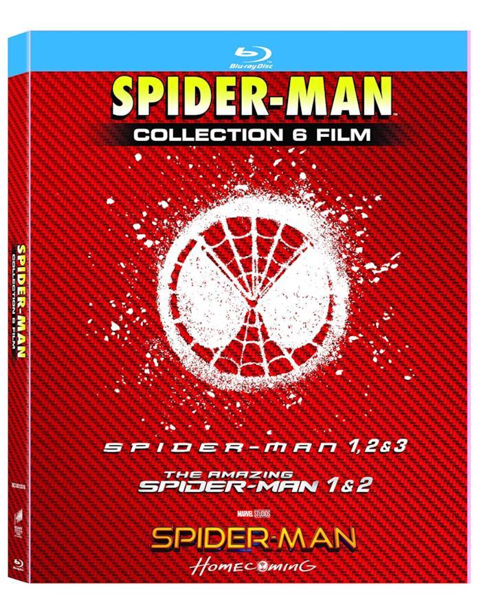 Copertina del cofanetto Blu-ray di Spider-Man