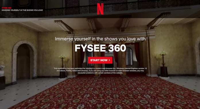 La schermata di accesso a FYSEE 360