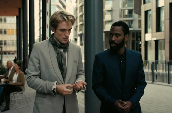 Un'immagine di John David Washington e Robert Pattinson in Tenet