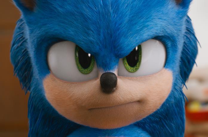 Un primo piano del nuovo Sonic
