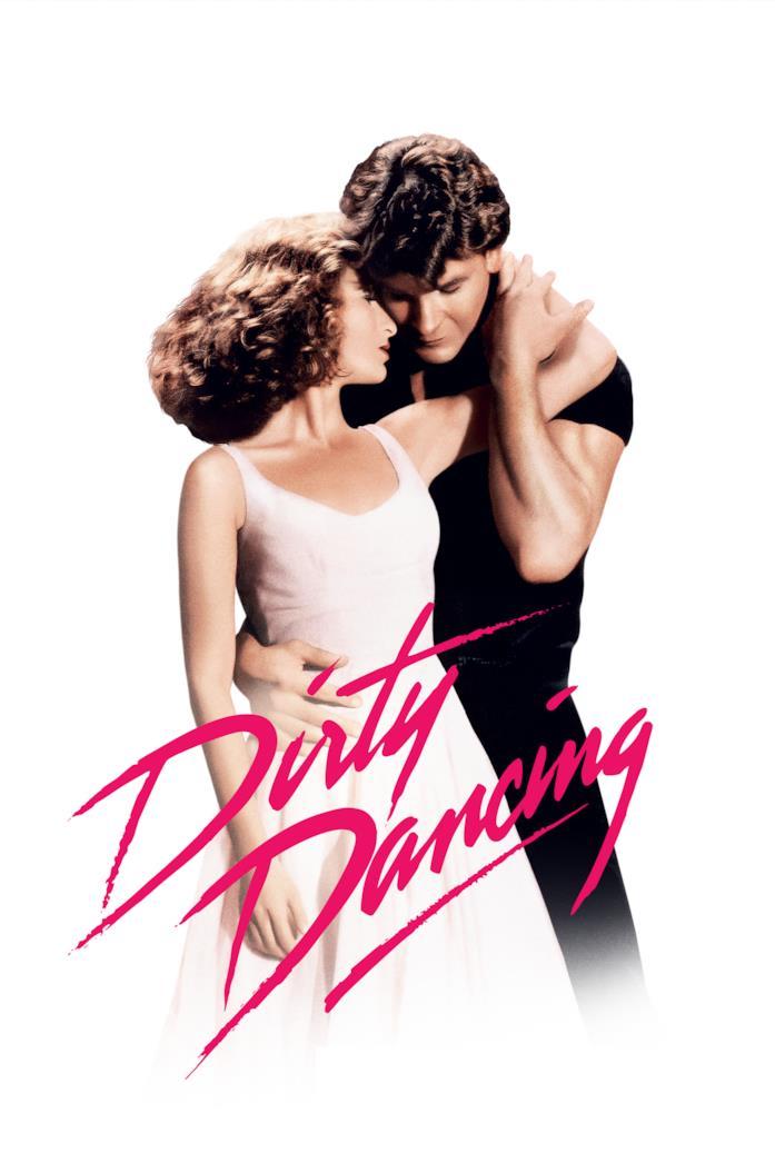 Patrick Swayze e Jennifer Grey nella locandina di Dirty Dancing