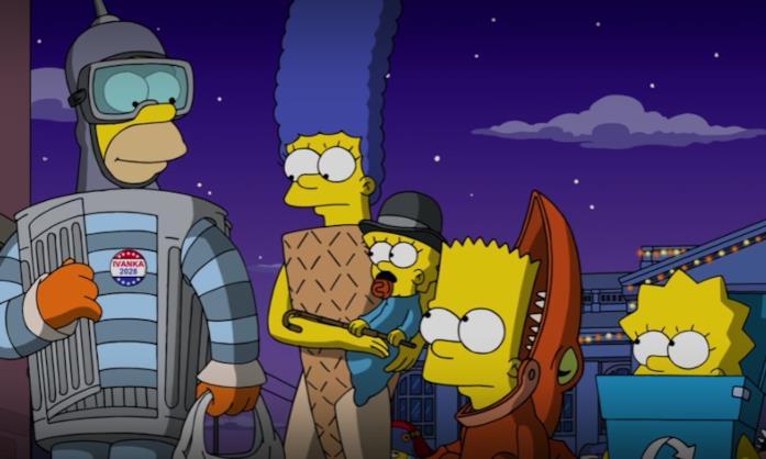 Una sequenza tratta da uno special di Halloween dei Simpson