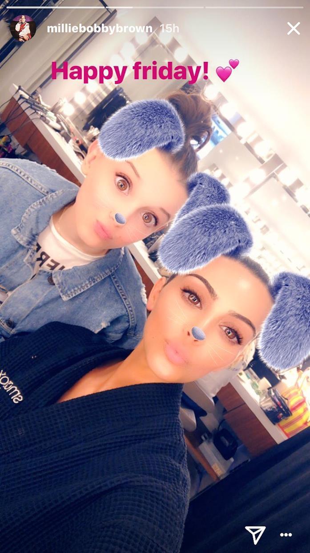 Millie Bobby Brown incontra Kim Kardashian