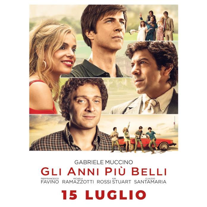 Il poster de Gli anni più belli con Pierfrancesco Favino, Micaela Ramazzotti, Kim Rossi Stuart e Claudio Santamaria