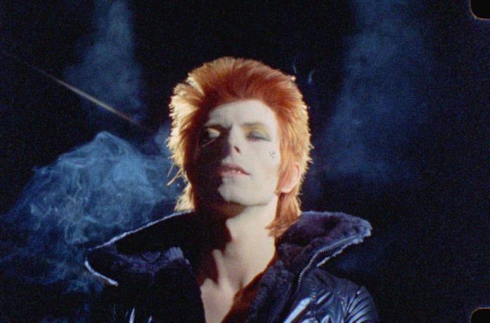 David Bowie in una scena del film SHOT! The Psycho-Spiritual Mantra of Rock