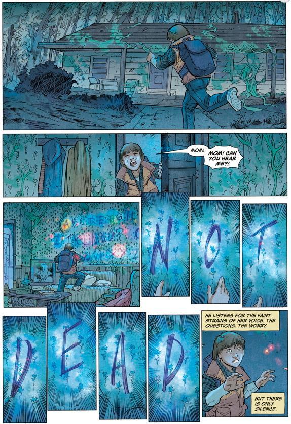 Una pagina del fumetto Il Sottosopra di Stranger Things